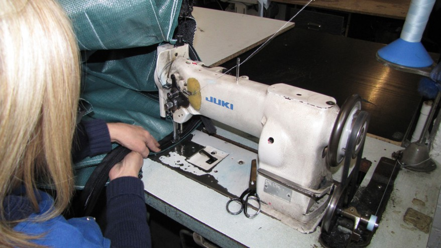 Making repairs to faulty polypropylene bags, sacks and silos