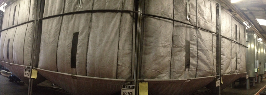 Large silo bags manufactured by Polypropylene Products